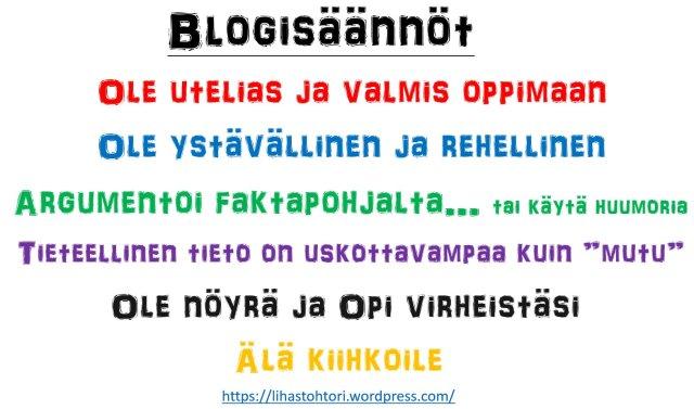 Blogisäännöt